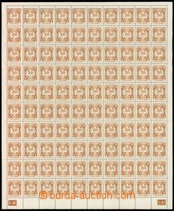 57375 - 1941 Pof.SL1 official issue I, complete 100-stamps counter s