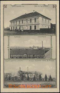 57385 - 1914 Sadová - 3okénková, hotel U Českého lva, cukrovar,