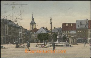 57391 - 1910 Jičín - square, figures; Us, light stains