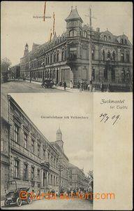 57393 - 1909 Zlaté Hory (Zuckmantel) - 2-views, school, School stre