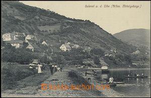 57395 - 1912 DOLNÍ ZÁLEZLY (Salesel) - labské quay, figures, boat