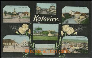 57396 - 1910 KATOVICE - 7-view collage, railway-station, válcové m