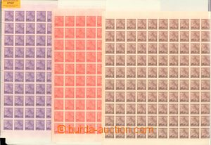 57397 - 1941 Pof.54-56 Linden Leaves, complete 200 pcs of counter sh