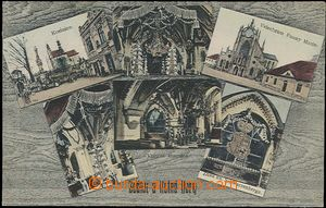 57401 - 1912 Sedlec - ossuary, 6-view collage; Us, good condition