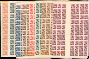 57402 - 1939 Pof.20-27 Linden Leaves (recess printing), complete cou
