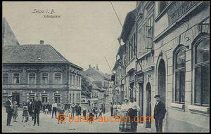 57406 - 1913 Česká Lípa (Leipa i./B.) - školní ulice s postavam