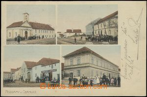 57408 - 1904 Černuc - 4okénková, kaple, obchod, škola; DA, proš