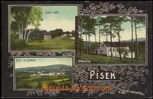 57414 - 1908 Písek - 3okénková, staré lázně, U Honzička, Pís
