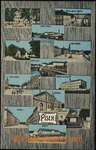 57415 - 1910 Písek - 12okénková, nádraží, kasárny, sokolovna;