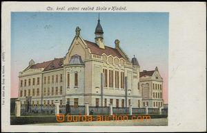 57426 - 1906 Kladno - C.k. státní reálná škola, zlacená; proš