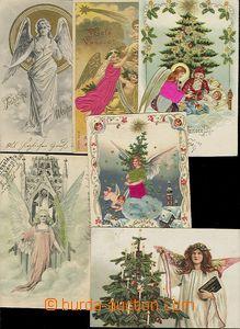 57447 - 1900-10 sestava 12ks blahopřejných litografických koláž