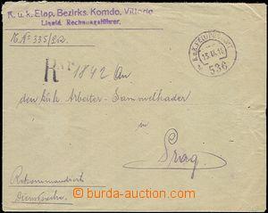 57458 - 1918 služební R dopis z Itálie s DR FPA č.536a/ 13.IX.18