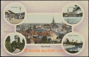 57460 - 1913 Nymburk - 5-záběrová koláž; prošlá, dobrý stav