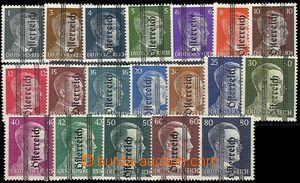 57467 - 1945 Mi.674-92, lokální vydání pro Steiermark, kat. 150€