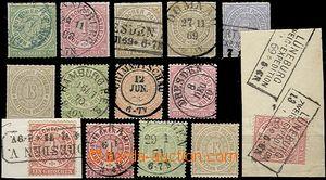 57474 - 1868 Mi.2, 4, 6 (2x), 10, 11 (without gum), 14, 15, 16 (4x,