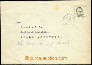 57492 - 1953 letter in the place with Pof.666 (1Kčs), CDS Prague ?/