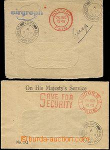 57496 - 1943 2x okénková obálka (1x Airgraph, 1x služební), DR