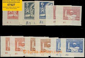 57527 - 1945 Pof.353-59  Košické, dolní rohové kusy s DZ A1, ses