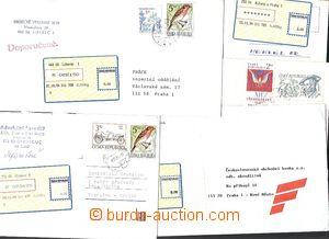 57551 - 1994 comp. 5 pcs of letters with labels T I. - Liberec 1, Ol