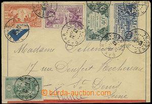 57568 - 1932 Let-dopis do Francie, bohatá frankatura zn. Mi.75 + 11