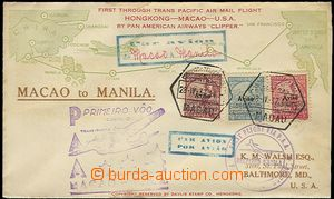 57576 - 1937 air-mail letter transported from Macaa to Manila near/i