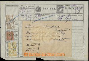 57579 - 1917 celinový blanket na obyčejný telegram (Sim.10), tisk