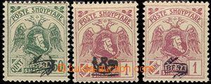 57606 - 1920 Mi.80II., 81I., 81II., postage stmp with controlling ov