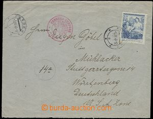 57616 - 1948 CENSORSHIP  letter to Germany (US zone) with 5CZK, CDS