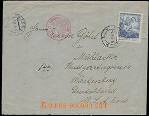 57616 - 1948 CENZURA  dopis do Německa (US zóna) vyfr. zn. 5Kč, D