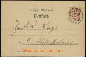57653 - 1893 BERLIN  business postcard with stmp 2Pf private post in