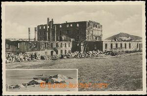 57654 - 1938 KRKONOŠE, Luční bouda, čb pohled na trosky Luční boudy