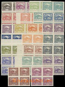 57677 -  Pof.1-26, line Hradčany-issue stamp. in blocks of four wit