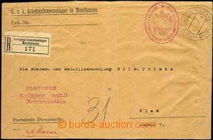 57703 - 1916 úřední R dopis (!) ze zajateckého tábora v Mauthau