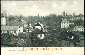 57732 - 1910 Loučeň - pohled přes dvorky; prošlá, dobrý stav
