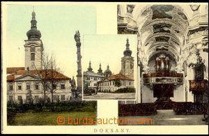 57734 - 1910 Doksany - 3okénková, interiér kostela; nepoužitá,