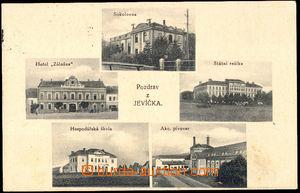 57739 - 1930 Jevíčko - 5okénková, pivovar, sokolovna, škola, ho