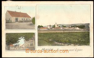 57749 - 1910 Mnich - 3-views, post, village square, general view; Us