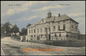 57774 - 1920 Jirny - kostel a škola; nepoužitá, dobrý stav