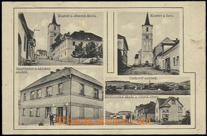 57775 - 1908 Volenice - 5-views, church, school, saving and reserve