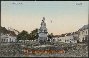 57784 - 1910 Ivanovice na Hané - socha sv. Floriána na náměstí;