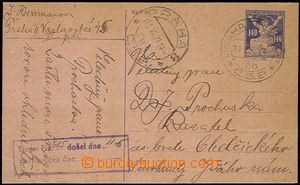 57799 - 1921 CPO1, insufficiently franked, really sent by pneumatic