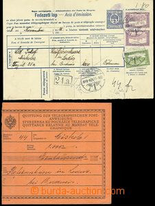 57802 - 1918 2. part Hungarian telegraph order with printed stmp 2fi