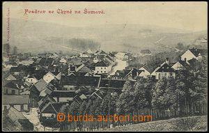 57809 - 1910 Čkyně - general view; Us, wrinkled corners, light sta