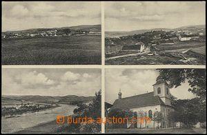 57810 - 1934 Hřiměždice - 4okénková, kostel, celkový pohled; p
