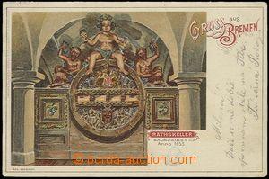 57818 - 1901 BREMEN - litografie, radniční sklípek; DA, prošlá,