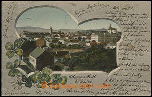 57826 - 1902 Jičín - collage, general view; long address, Us, brok