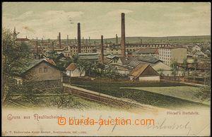 57827 - 1902 Nový Jičín - továrna na klobouky Johann Hückel, (T