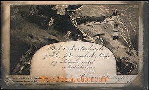 57832 - 1899 HORNICTVÍ  horník s kahanem  v šachtě; DA, neprošl
