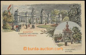 57839 - 1896 lithographic postcard with pre-printed stmp 2 Kreuzer i