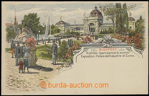 57840 - 1896 lithographic postcard with pre-printed stmp 2 Kreuzer i